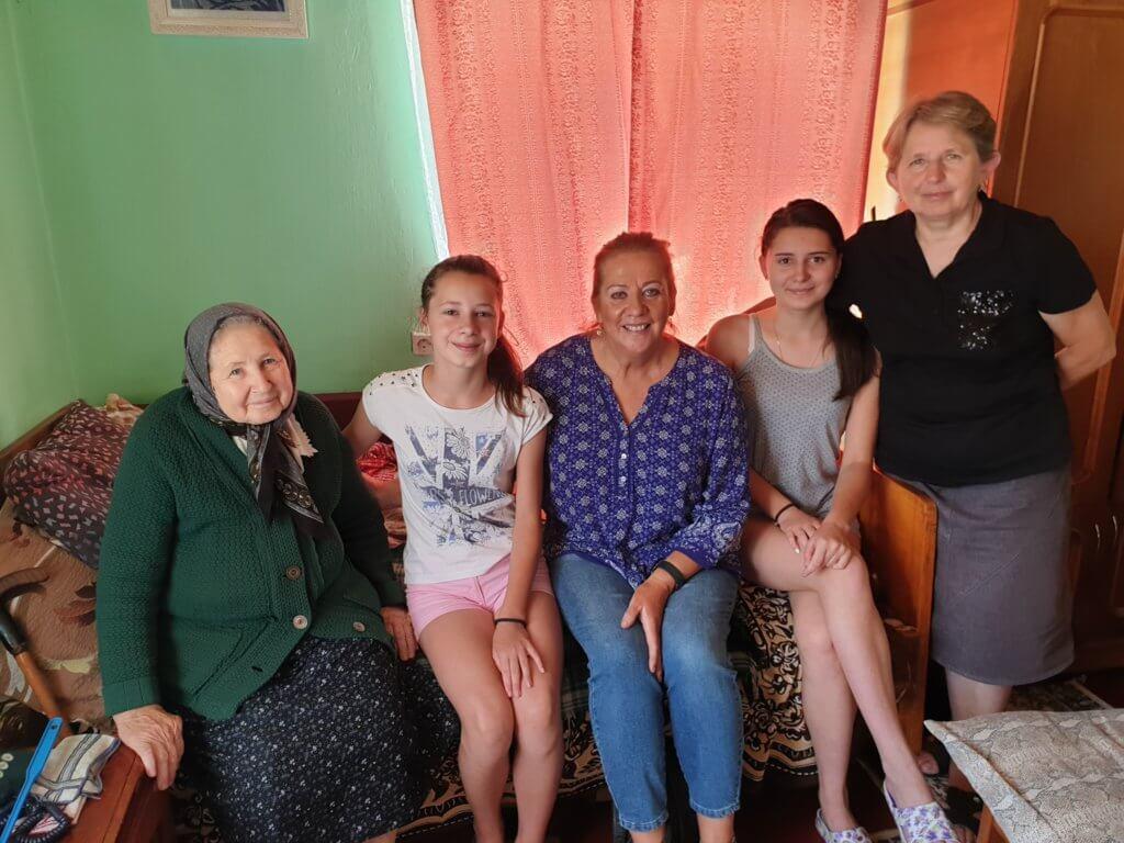 3. Tymofichuk relatives ..older lady got parcels from grandma
