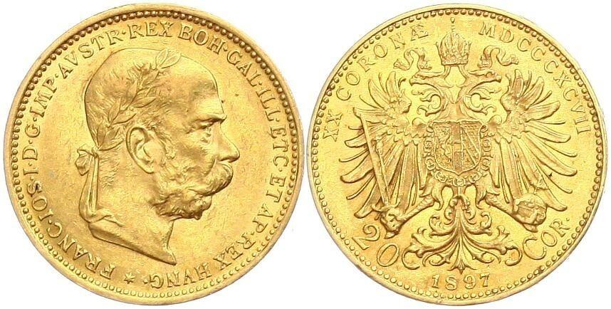 Austro Hungary 1897 20 Corona