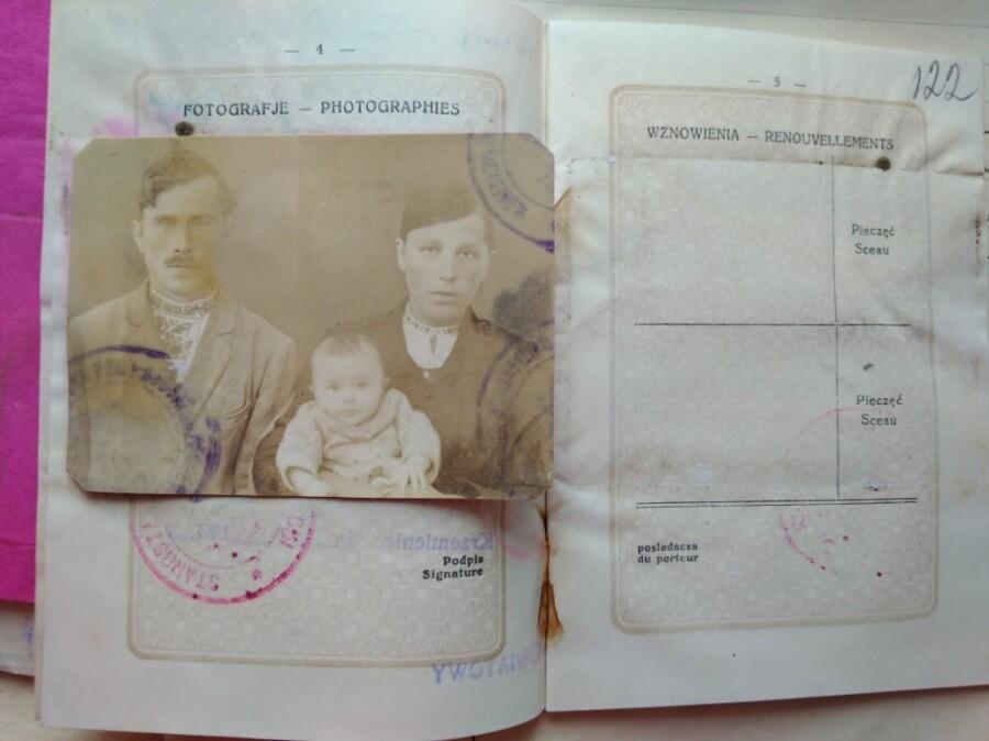 PASSPORT image 1 of Smyk Kornij, a farmer of Pakhinia village, Kremenets District