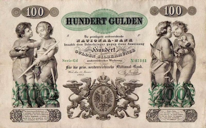 Currency of Austro-Hungary - 100  hundert gulden
